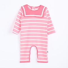 billige Babytøj-Overall og jumpsuit Daglig Stribet, Bomuld Efterår Lys pink