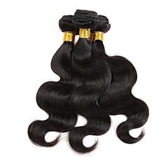 billiga Hårförlängningar av äkta hår-3 paket Brasilianskt hår Kroppsvågor 10A Obehandlad hår Human Hår vävar 8-12 tum Hårförlängning av äkta hår Heta Försäljning 100% Jungfru Människohår förlängningar