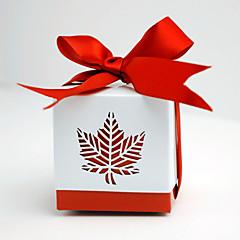 12 Stuk/Set Gunst Holder-Kubusvormig Kaart PapierBedank Doosjes Bedank Tassen Gunst Dozen en Emmers Bedankjestuit Snoeppotten Cupcake