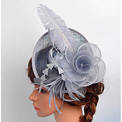 Žene Saten Čipka Organza Net Glava-Vjenčanje Special Occasion Outdoor Fascinators Kavez Burke 1 komad
