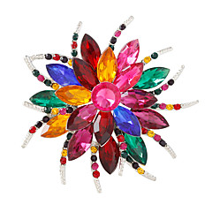 cheap Pins and Brooches-Women's Crystal Brooches - Flower Personalized, Fashion, Colorful Brooch White / White / Assorted Color / Silver / Gray For Party / Daily