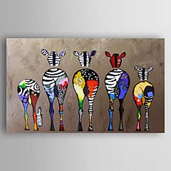 povoljno Ukrašavanje zidova-ručno oslikana platna životinjskog ulja uljepšana zebra moderne umjetnosti rastegnut spreman objesiti