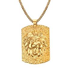halpa -Miesten Riipus-kaulakorut Ruostumaton teräs Gold Plated Muoti pukukorut Korut Käyttötarkoitus Päivittäin Kausaliteetti Joululahjat