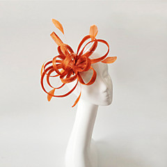 cheap Party Headpieces-Flax Feather Fascinators Headpiece Elegant Classical Feminine Style