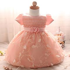 tanie Odzież dla dziewczynek-Dla dziewczynek Wyjściowe Solidne kolory Krótki rękaw Sukienka