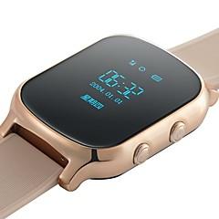 billige Smartklokker-Smartklokke til iOS / Android Pulsmåler / GPS / Håndfri bruk / Vannavvisende / Video Stoppeklokke / Stopur / Aktivitetsmonitor / Søvnmonitor / Finn min enhet / 0.3 MP / Vekkerklokke / Del med samfunn