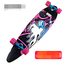 41 Inch Longboards Skateboard Standard Skateboards Professional Maple Alloy ABEC-9-Black Orange Purple Green