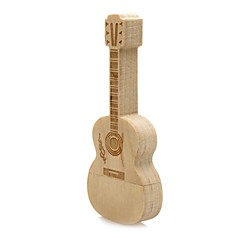 halpa -Neutral Tuote Wooden Guitar 32GB USB 2.0 Iskunkestävä