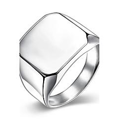 Heren Bandringen PERSGepersonaliseerd Europees Opvallende sieraden Verguld Titanium Rechthoekige vorm Geometrische vorm Sieraden Voor