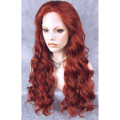 cheap Wigs & Hair Pieces-Synthetic Lace Front Wig Wavy Synthetic Hair Red Wig Women's Long Lace Front