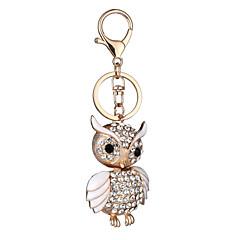 Euroopassa ja Yhdysvalloissa uusi realistinen avaimenperän pöllö avaimenperän pussi auton avain riipus Ystävänpäivä lahja tehtaan