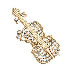kuuma myynti paistaa Crystal viulu kengät rintakoru naisille