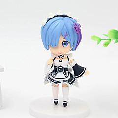 Figuras de Ação Anime Inspirado por Fantasias Rem PVC 8 CM modelo Brinquedos Boneca de Brinquedo
