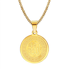 Men's Pendant Necklaces Jewelry Party/Birthday/Daily/Casual Fashion Gold Plated Stainless Steel Golden 1pc Gifts