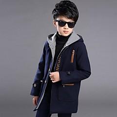 billige Jakker og frakker til drenge-Drenge Ensfarvet Langærmet Jakke og frakke
