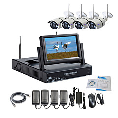 cheap Security & Safety-Strongshine® Wireless IP Camera with 960P Infrared Waterproof and NVR with 7 Inch LCD Combo Kits