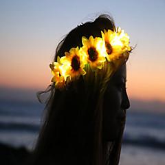 slunečnice vedl rozsvítí květina crownfloral headbandlight až květinu crownheadband Coachella halloween