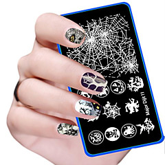 kai yunly 1PC Halloween DIY Nail Art Image Stamp Stamping Plates Manicure Template