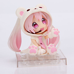 Figuras de Ação Anime Inspirado por Fantasias Snow Miku PVC 14 CM modelo Brinquedos Boneca de Brinquedo