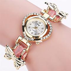 cheap Women's Watches-Xu™ Women's Quartz Wrist Watch Hot Sale PU Band Vintage Casual Butterfly Fashion Black White Blue Red Green Pink Purple Ivory