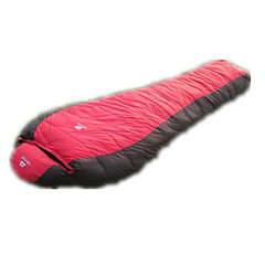 Saco de dormir Tipo Múmia Plumagem Penas de Pato -15°C Portátil Á Prova-de-Chuva Dobrável Selado 180X30 Campismo Casal (L200 cm x C200 cm)