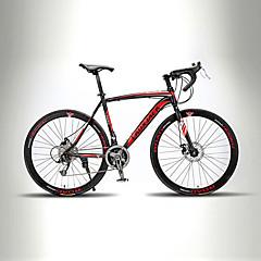 billige Sykler-Landeveissykkel Sykling 21 Trinn 26 tommer (ca. 66cm) / 700CC TX30 BB8 Dobbel skivebremse Ikke dempende Helsveiset / Sykkelramme Uten Bak