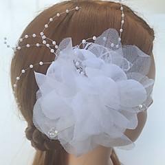 チュールアクリルネットの花の髪の爪のヘッドピースクラシックな女性のスタイル