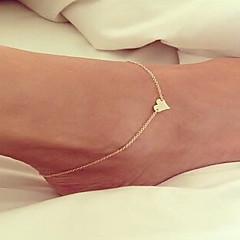 baratos Bijoux de Corps-Tornezeleira - Amor Europeu, Estilo simples, Fashion Prata / Dourado Para Casamento / Mulheres