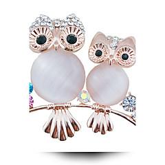 dámská módní slitina / drahokamu / crystal brož pin strana / den / náhodný zvířecí tvar šperky 1ks