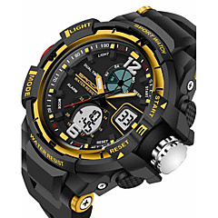 SANDA Men's Sport Watch Smartwatch Wrist Watch Digital Japanese Quartz Black 30 m Water Resistant / Water Proof Alarm Chronograph Analog-Digital Luxury Casual Fashion - Black Red Blue Two Years / LED