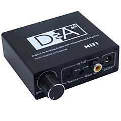 baratos -conversor digital-analógico de áudio com áudio estéreo de alta fidelidade amplificador de auscultadores toslink coaxial com o poder
