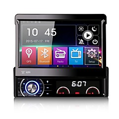 7 Inch Detachable 1 Din Car DVD Player Multimedia System Anti-theft GPS Sat Navi Bluetooth EX-TV Mirror-Link 7 Colors Button Light Universal DK7090LT