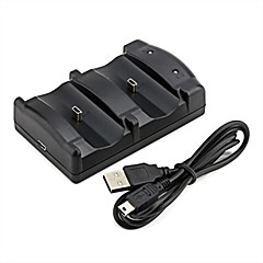 cheap PS3 Accessories-Dual USB Charging Dock for PS3 Wireless Controller (Black)