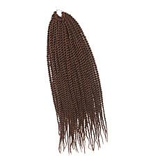 billiga Peruker och hårförlängning-twist Flätor 1pc / förpackning Hårflätor Senegal Syntetisk Medium Rödbrun Hår till flätning Hårförlängningar