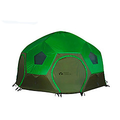 billige Telt og ly-MOBI GARDEN 3-4 personer Telt Dobbelt camping Tent Ett Rom Familietelt Hold Varm Vanntett Bærbar Ultra Lett (UL) Vindtett Ultraviolet