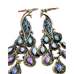cheap -Women's Cubic Zirconia Rhinestone Drop Earrings - Vintage Folk Style Statement Peacock For Party Special Occasion Anniversary