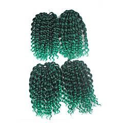 billiga Peruker och hårförlängning-Pre-loop Virka Braids Hårförlängningar 9Inch Kanekalon 1 Package For Full Head Strå 170g gram Hair Braids
