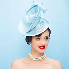 baratos Acessórios de Cabelo-Linho Pena Fascinadores Chapéus 1 Casamento Ocasião Especial Casual Capacete