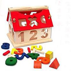 Blocos de Construir Brinquedo Educativo para presente Blocos de Construir Hobbies de Lazer Casa Madeira 5 a 7 Anos Arco-Íris Brinquedos