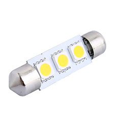 cheap Car LED Lights-39mm 0.6W 50LM 3000K 3x5050 SMD Warm White LED for Car Reading/License Plate/Door Lamp (DC12V, 1Pcs)