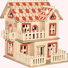 baratos -Quebra-Cabeças de Madeira Construções Famosas Arquitetura Chinesa Casa Nível Profissional De madeira 1pcs Estilo Europeu Crianças Para