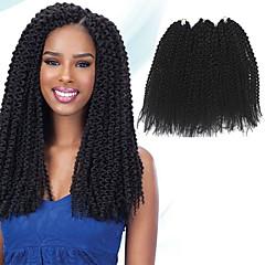 billiga Peruker och hårförlängning-Hår till flätning Island Twist Pre-loop Virka Flätor / Hårförlängningar av äkta hår 100% kanekalon hår Hårflätor Dagligen