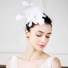 cheap Party Accessories-Feather Fascinators Flowers 1 Wedding Special Occasion Casual Headpiece