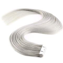 お買い得  人毛エクステンション-シールタイプ 人間の髪の拡張機能 ストレート 人毛 女性用 日常