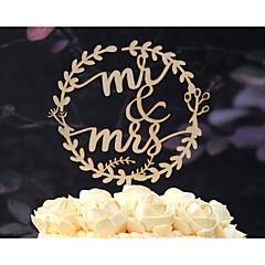 billige Kakedekorasjoner-Kakepynt Ikke-personalisert Klassisk Par Kort Papir Utdrikkingslag Bryllup Jubileum Gul Hage Tema Blomster Tema Klassisk Tema Vintage Tema