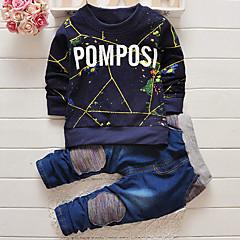 baratos Roupas de Meninos-Bébé Para Meninos Roupas de Festa Estampado Manga Longa Jeans