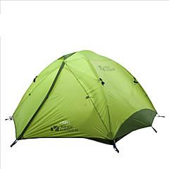 billige Telt og ly-MOBI GARDEN 3-4 personer Telt Dobbelt camping Tent Ett Rom Turtelt Hold Varm Vanntett Bærbar Ultra Lett (UL) Vindtett Ultraviolet