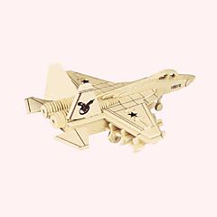 Puzzle Dřevěné puzzle Stavební bloky DIY hračky Fighter 1 Dřevo Křišťálový Modelování