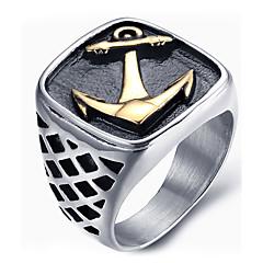 男性用 ステートメントリング 指輪 ファッション コスチュームジュエリー チタン鋼 ジュエリー 用途 日常 カジュアル