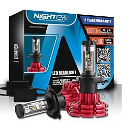 nighteye h4 60W / / merhaba 10000lm set kısa huzmeli farlar araç led kiti ampuller sis lambaları 3000k 6500k 8000k beyaz plug-n-play h4 hi